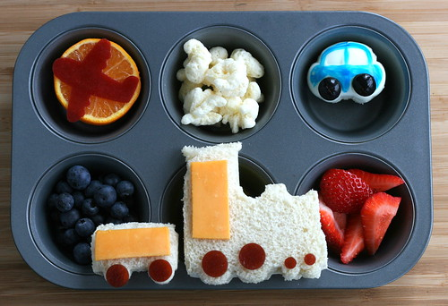 Muffin Tin Monday - zoom, chug, beep! | by anotherlunch.com