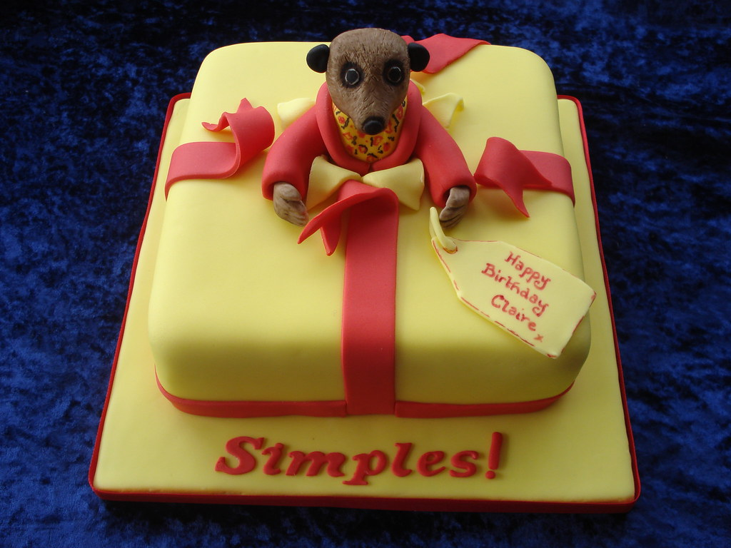 Meerkat Birthday Cake