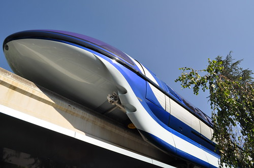 Disneyland Monorail Blue on a clear day | by DonGiaconia