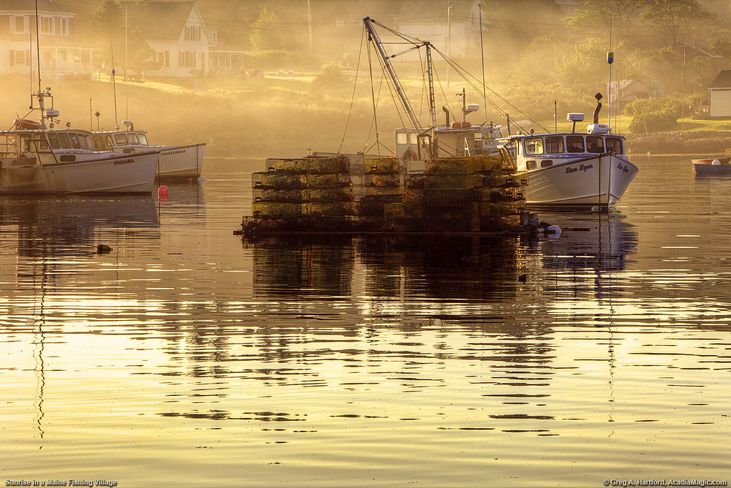 Maine lobster fishing village this is a serene early for Fishing jobs in maine