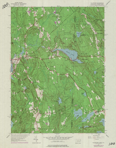 Voluntown Quadrangle 1975 - USGS Topographic Map 1:24,000 | by uconnlibrariesmagic