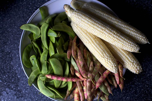corn, limas and cranberry beans | by smitten kitchen