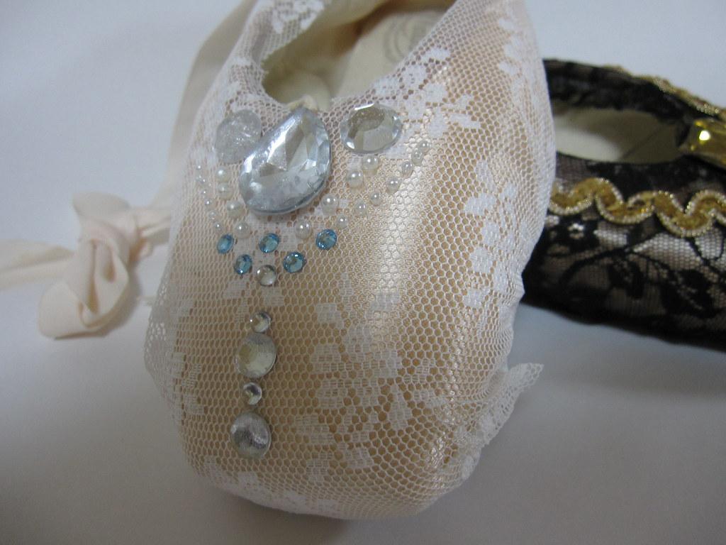 White Ballet Pointe Shoes