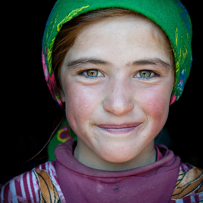 central asia portrait hijab lady beautifull girl flickr