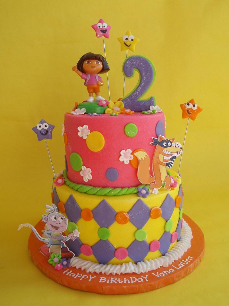 Dora and Friends Birthday Cake | A girlie twist to a Dora ...