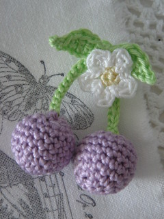 More crocheted cherries... | by sewingamelie by liebesgut