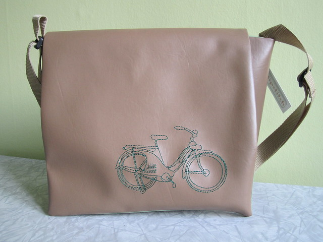 messenger bag - bicycle (green)