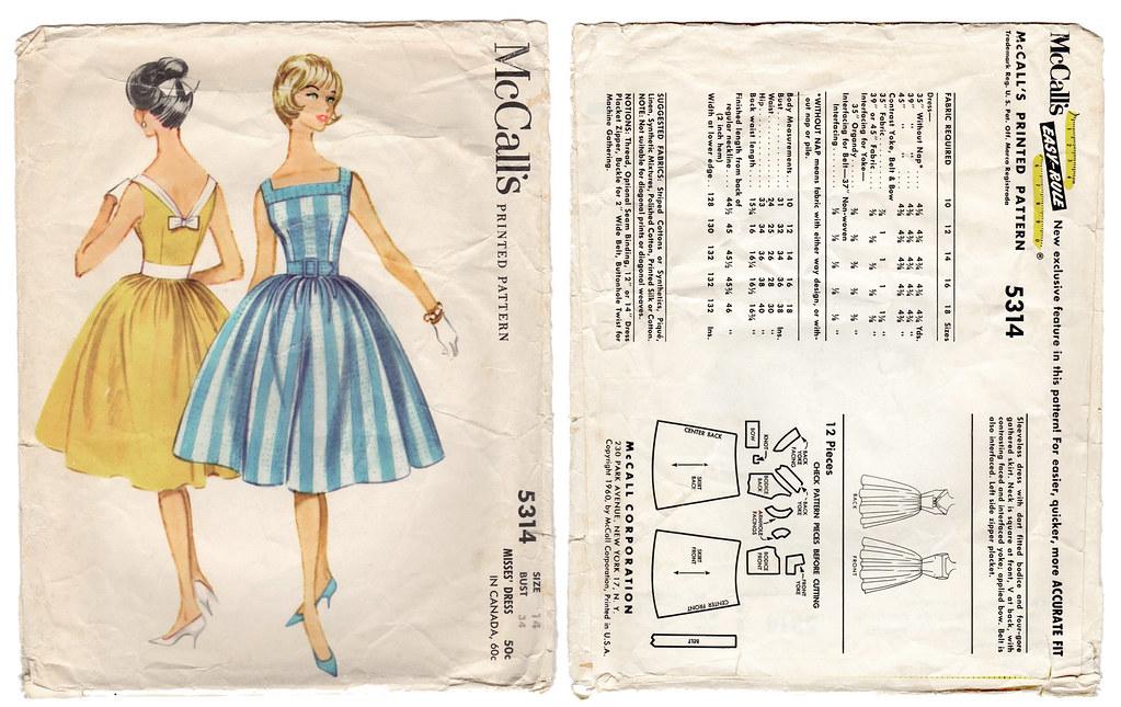 1960s Misses Dress - Vintage Sewing Pattern - McCalls Patt… | Flickr