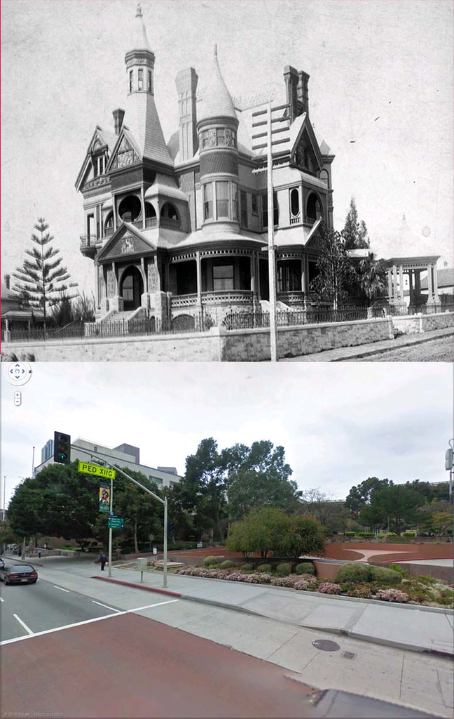 Los angeles then and now using google street view flickr for Historical homes in los angeles