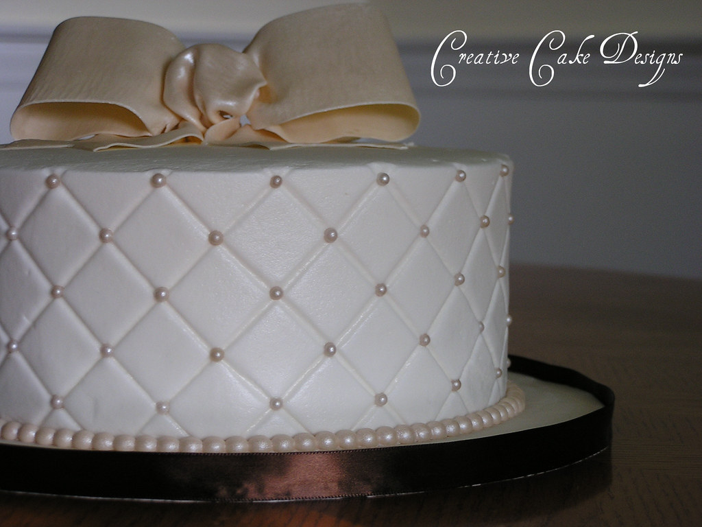 Butter cream diamond quilted cake. Fifth and FINAL cake ...