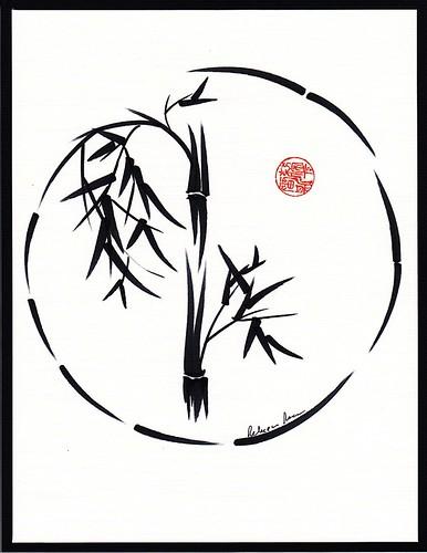 "Original Enso Zen Painting Throw Pillows: ""Passage"" Original Enso Sumi-e Ink Brush Pen Wash Painting"