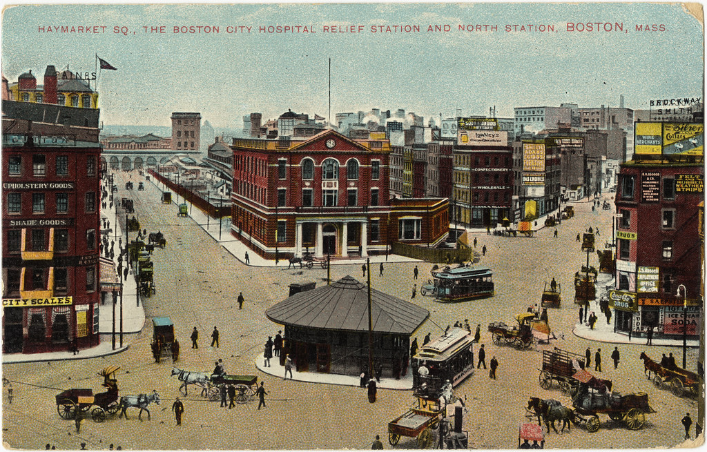 Haymarket Sq The Boston City Hospital Relief Station And