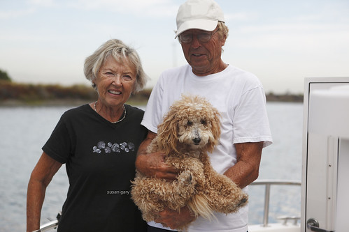 Mature Man, Woman, Dog and Their Yacht | by *GloriousNature*bySusanGaryPhotography