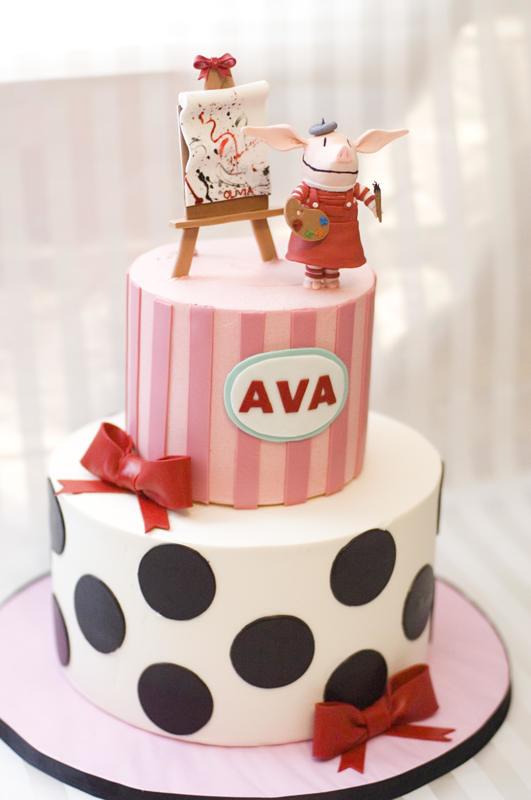 Olivia Cake Buttercream Cakes With Fondant Deco And