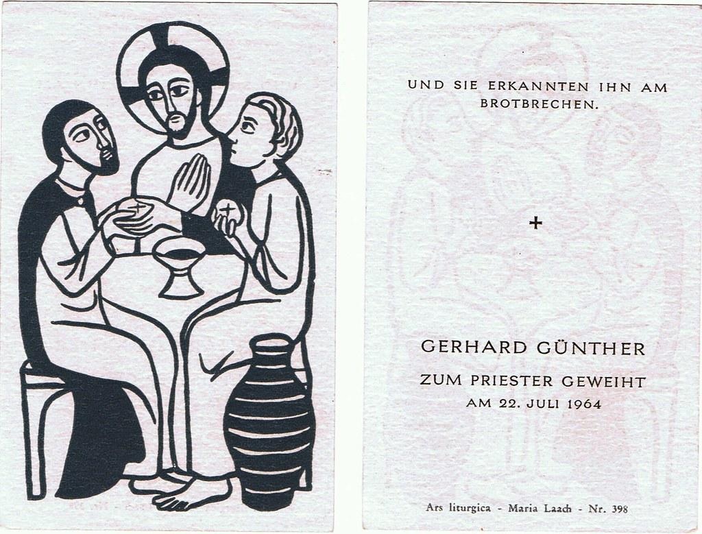 Priesterweihe Günther, Gerhard am 22.07.1964