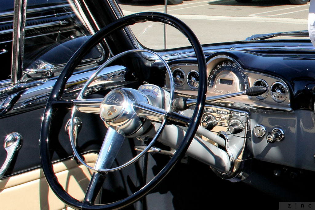 1950 Pontiac Silver Streak cnv - navy blue - dash | Rex ...