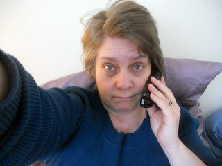 Sick day teleconference--Daily Image 2011--February 2 | by Rochelle, just rochelle