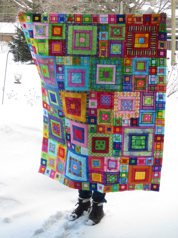 Crayon box quilt i remember seeing a quilt by kaffe - Alfombras de patchwork ...