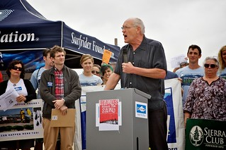 Bill Rosendahl Gives Fiery Speech Against Oil Drilling And Support For Alternative Energy | by Gary Rides Bikes