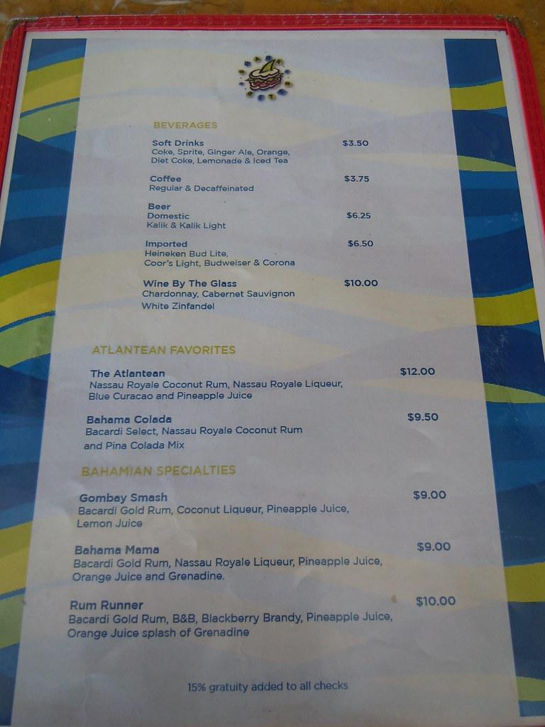 Atlantis Bahamas Drink Prices