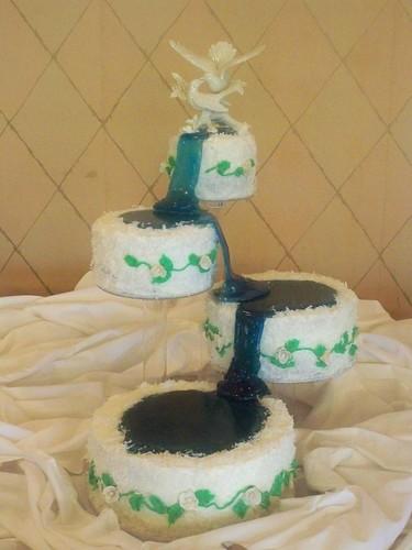 Frozen Waterfall Wedding Cake