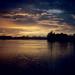 Kuching River sunset, Sarawak, Borneo, 1996