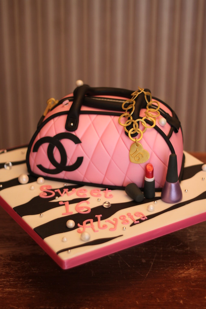 fdcc8349aafd ... Coco Chanel purse cake Cake made for a young lady that lov Flickr
