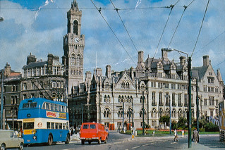 Postcard Bradford City Centre Early 1970s | by combomphotos