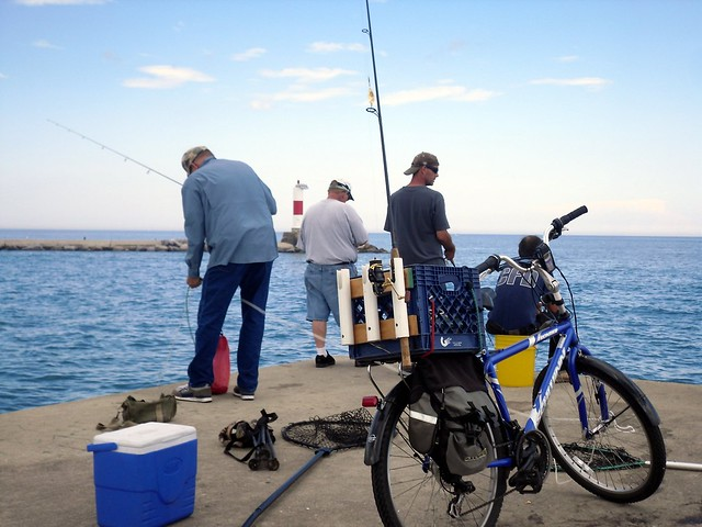 Fishing for perch lake michigan flickr photo sharing for Lake michigan perch fishing report