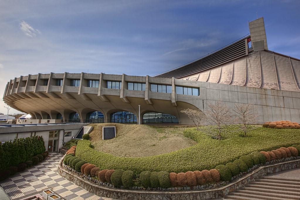 Yoyogi National Gymnasium View On Black Original Size
