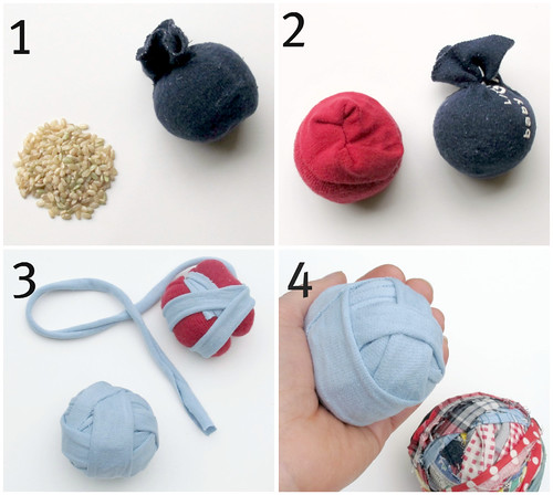 diy rag juggling balls | by mayalu