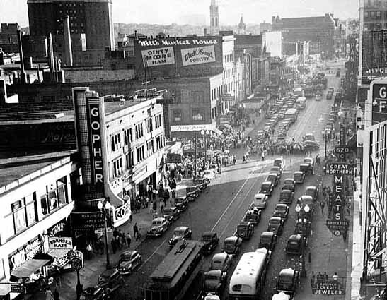 Minneapolis 1940 Hennepin Avenue And South Seventh