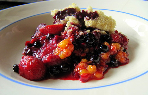 fresh organic fruit crumble | by RukaKuusamo.com