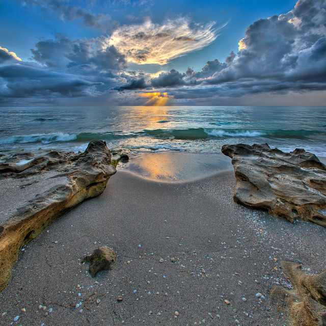 Jupiter Beach Florida Rocks