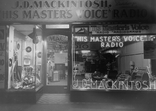 hmv goods on display in Australia - J.D. Mackintosh store - unknown location 1940s