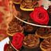Chocolate & Red Rose Wedding Cupcakes
