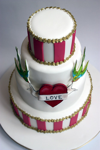 Retro Tattoo Wedding Cake | by ConsumedbyCake