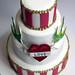 Retro Tattoo Wedding Cake