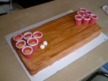 Beer Pong Birthday Cake AlyssaV89 Flickr
