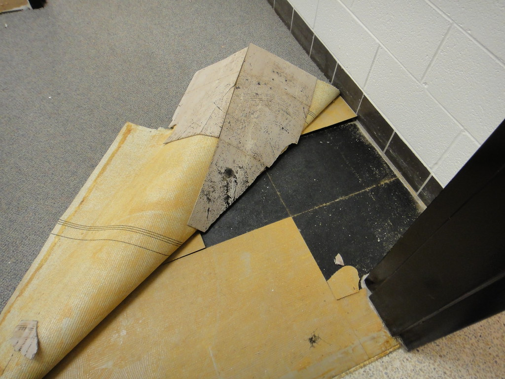 Asbestos Floor Tile Amp Mastic Under Carpet Abatement Flickr