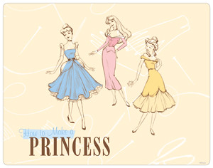 dress pattern princesses laptop skin posted to disney prin flickr