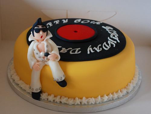 Elvis Themed Birthday Cakes