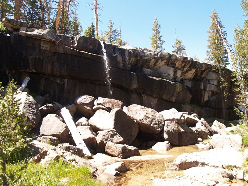 The Rafferty Creek waterfall is small in mid-August, but beautiful just the same