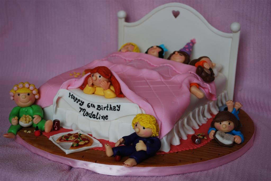 Sleepover Birthday Cake A Fun Girls Night Cake Is 11x 9 Flickr