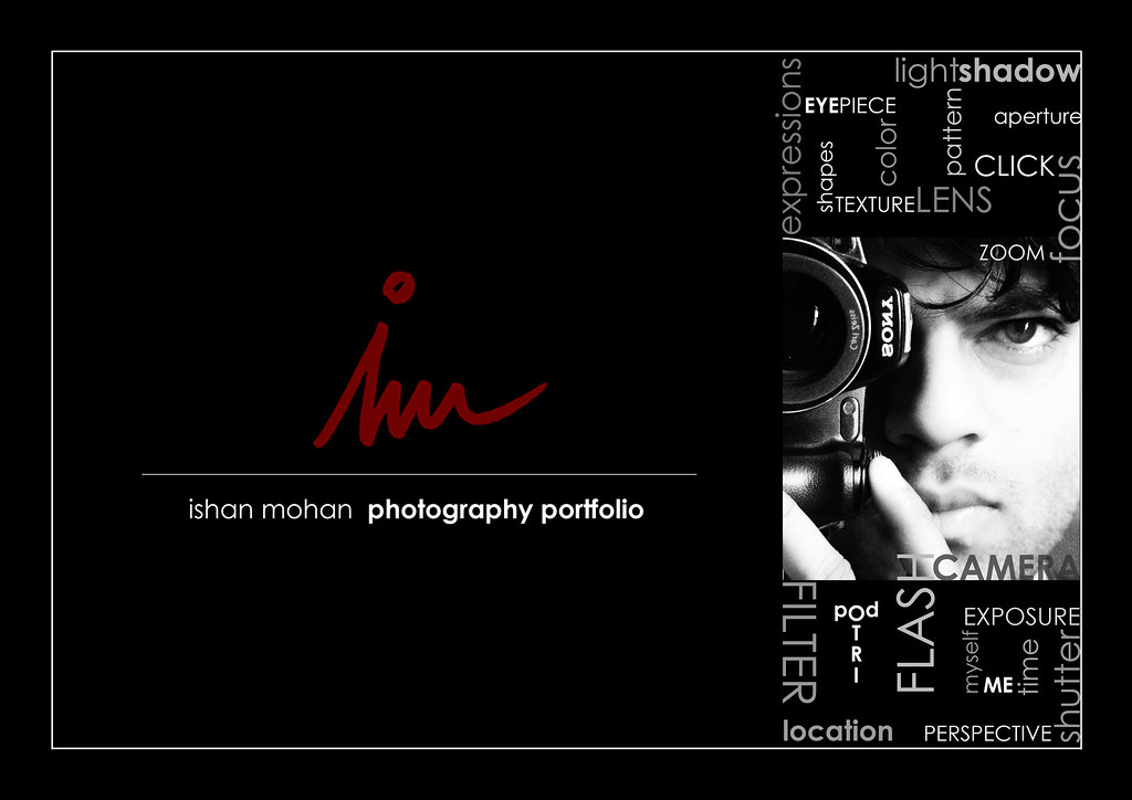 portfolio coverpage ishan mohan flickr - Photography Cover Page