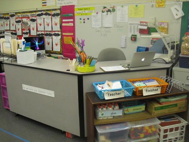 Classroom Ideas By Teachers For Teachers ~ Teacher desk picture classroom decorations