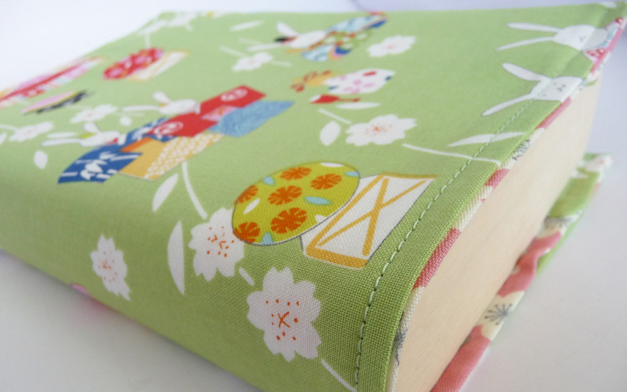 Diy Removable Book Cover : Fabric book cover tutorial ged kat flickr