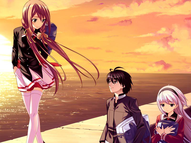 anime girl walking mayumi hatsumi flickr