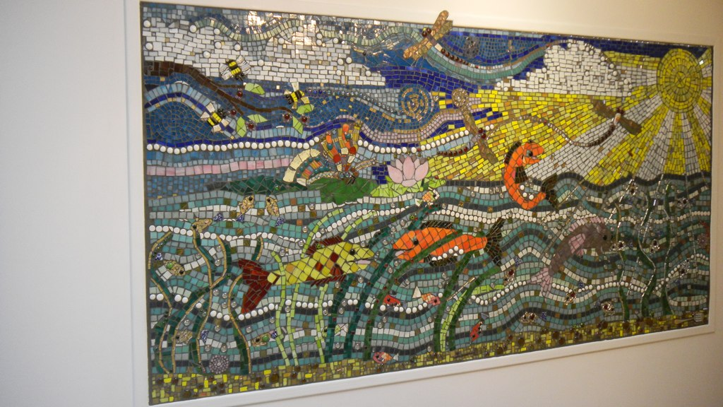 Found Object Mosaic Mural At Maribyrnong With Spanking New