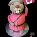 Canada Day Cake - 3D hand sculpted beaver in RCMP Serge, eh?